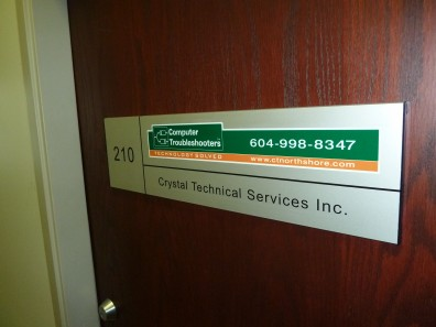 architectural - Custom Made Door Signs