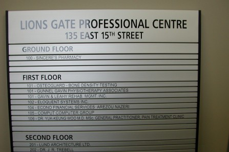 interior signs - Custom Made Directories