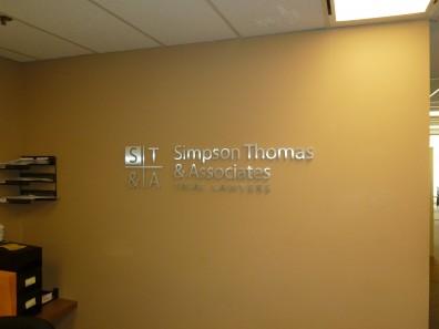 Reception Signs - 3D Aluminum
