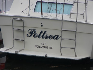 boat lettering - Pleasure Craft